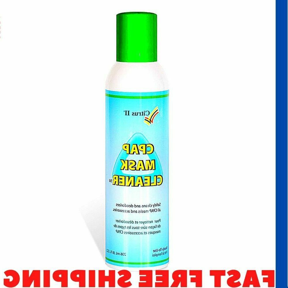 8 Oz Tubing Spray Cpap Mask Cleaner Citrus Non-Aerosol Natur