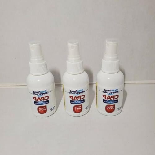 lot of 3 disinfectant spray cpap 2fl