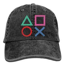 Playstation Joypad Adjustable Baseball Cotton Washed Denim C