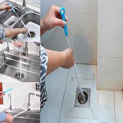 Snake Brush Bendable Kitchen Sewer Sink Tub Toilet Dredge Cl