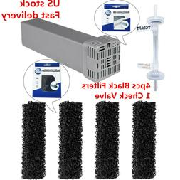 US Cartridge Filter Kit for 4 Cartridge Filters +1 Check Val